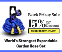 Get 15% discount - black friday sale on garden hose set!